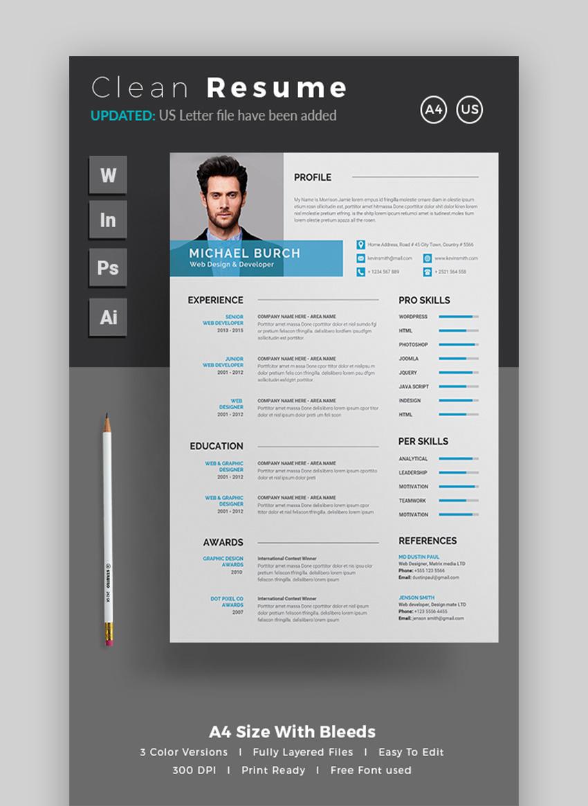 adobe free resume template