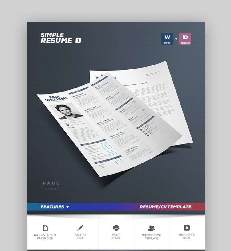 Simple Resume Vol 1