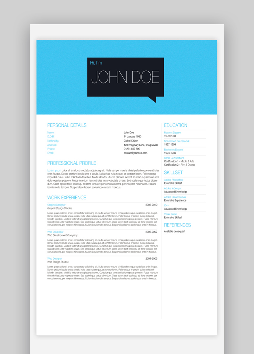 25 Top OnePage Resume Templates With Simple to Use