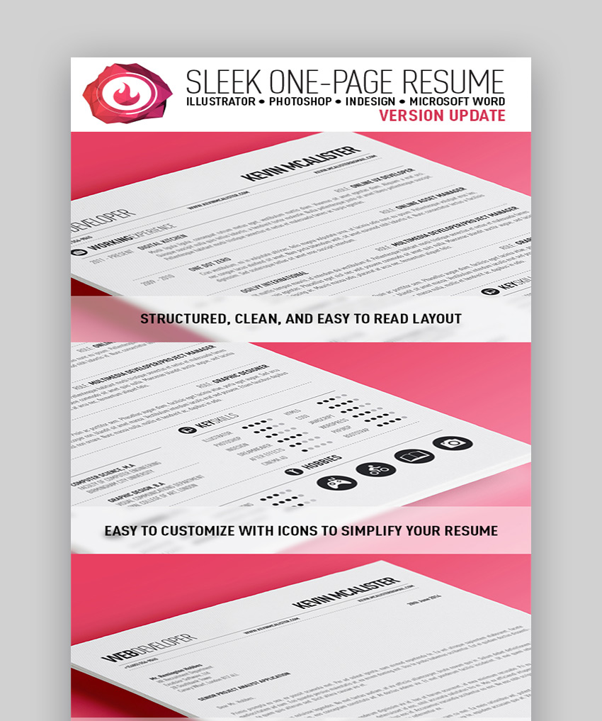 20 Top One-Page Resume Templates (With Simple to Use Examples)
