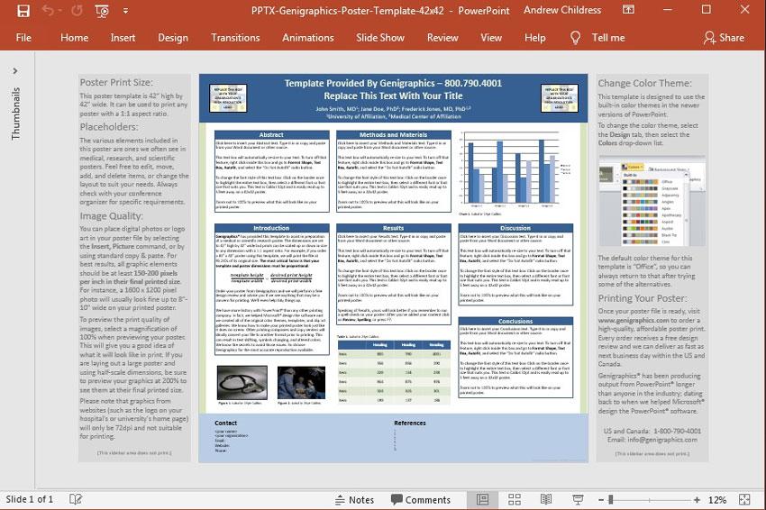 powerpoint postervorlagen