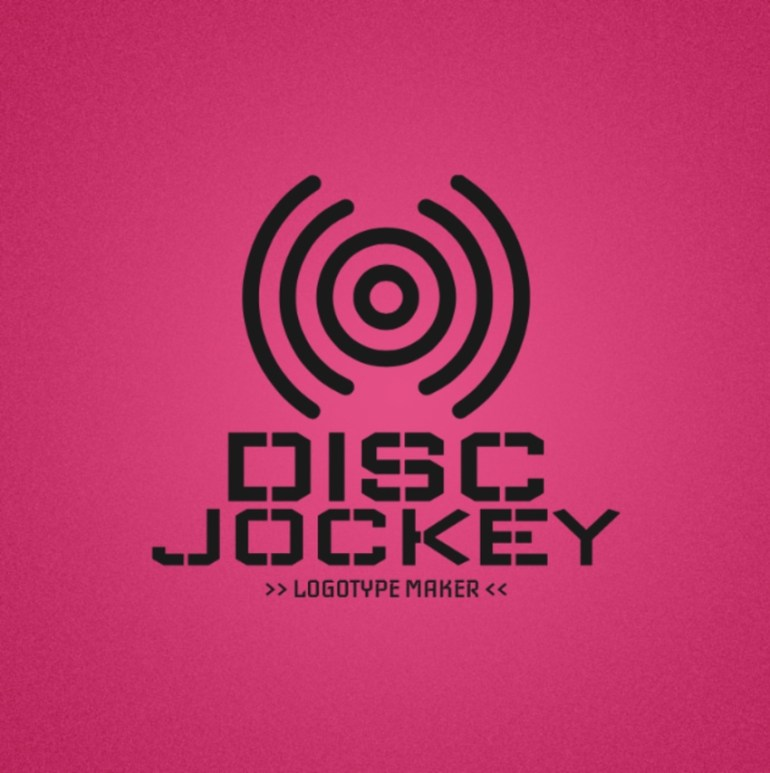 DJ Logo Maker with Circle