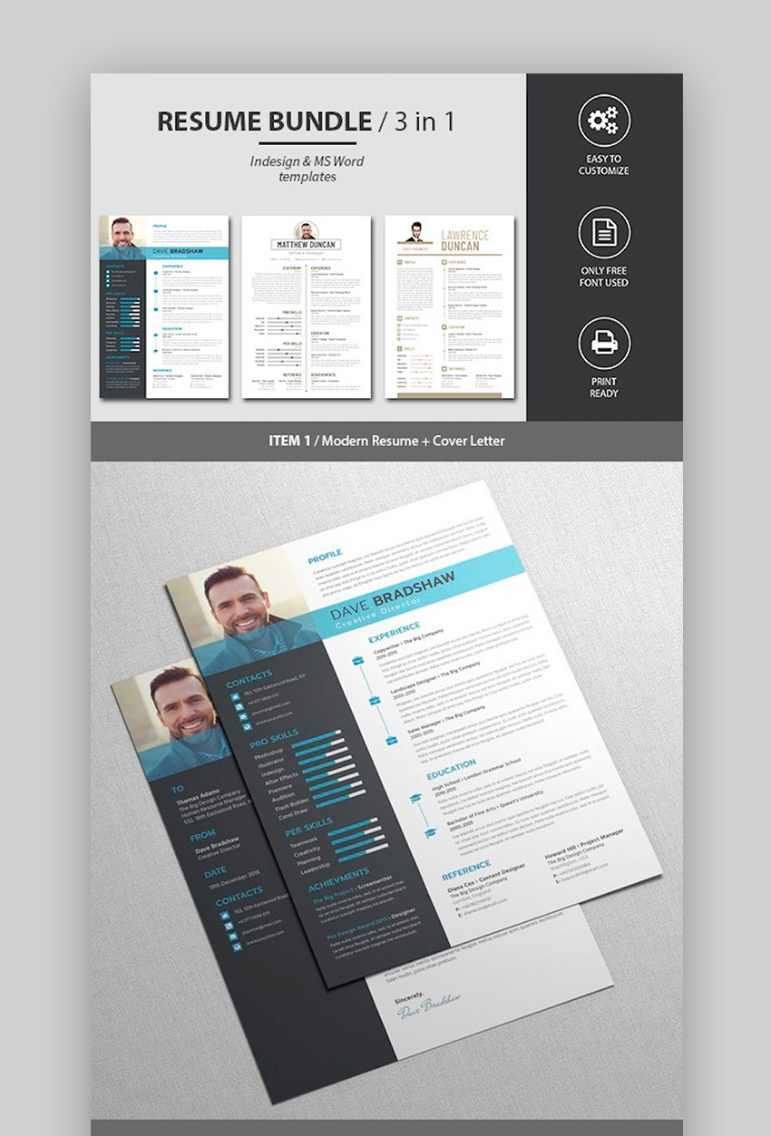 25 Best Contemporary New Styles Resume CV Templates For
