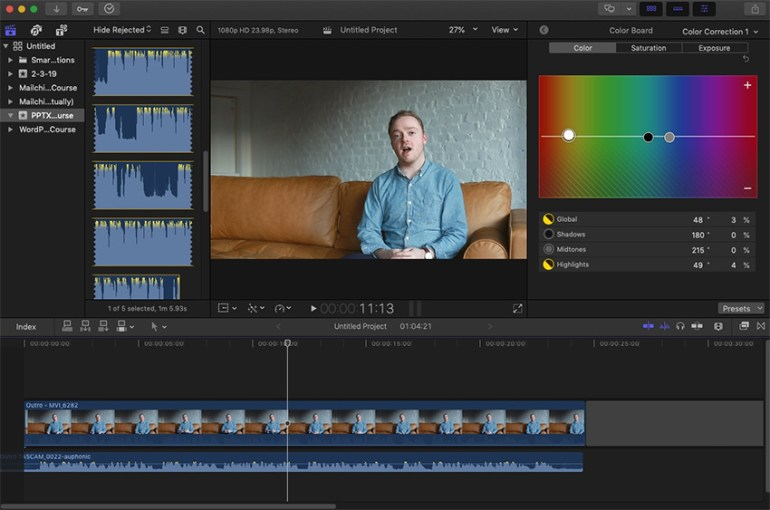 FCPX interface