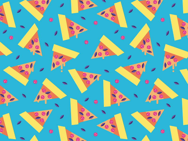 Cute Hamburger Wallpaper How To Make A Colorful Pizza Pattern In Adobe Illustrator