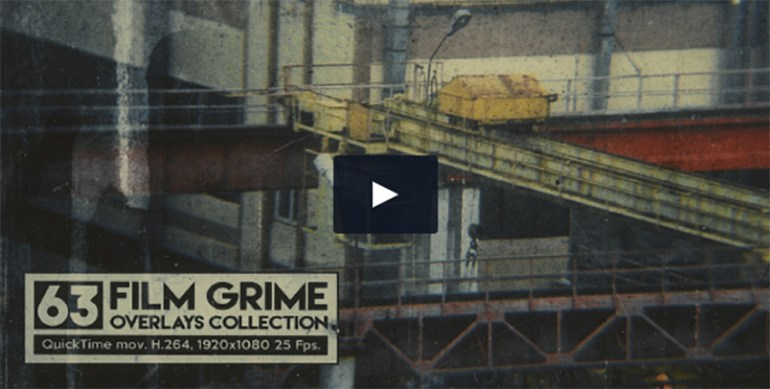 63 Film Grime Overlays Collection