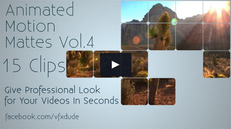 Clean Animated Motion Mattes Pack 4