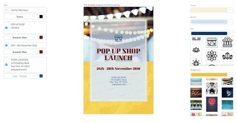 Online Flyer Maker for Store Launch