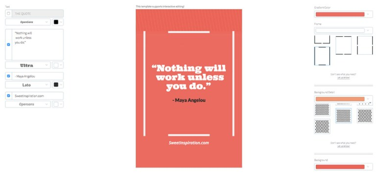 Pinterest Pin Template for Success Quotes