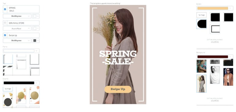 Spring Sales Insta Story Template