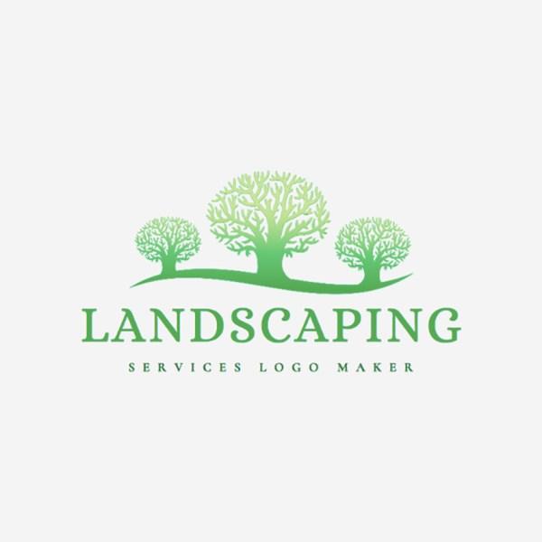 creative landscape company logo