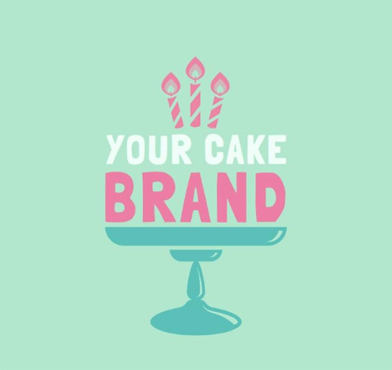 Bakery Logo Maker for a Cake Shop