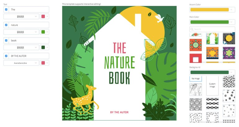 Book Cover Maker for Nature Books