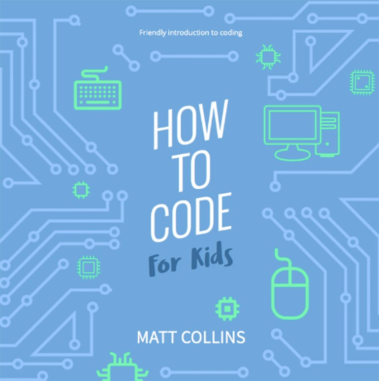 Coding for Kids Book Cover Template