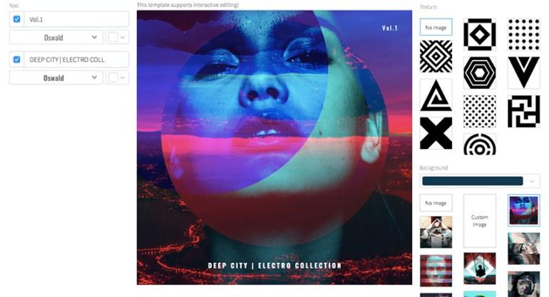 Deep Electro CD Cover Design Template
