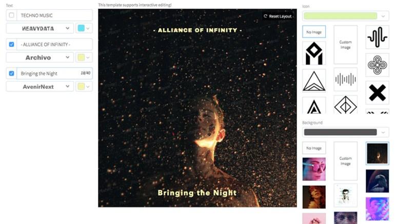 Infinite Techno Album Cover Maker