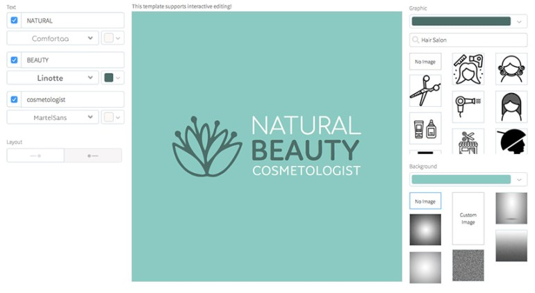 Logo Template for Natural Cosmetics