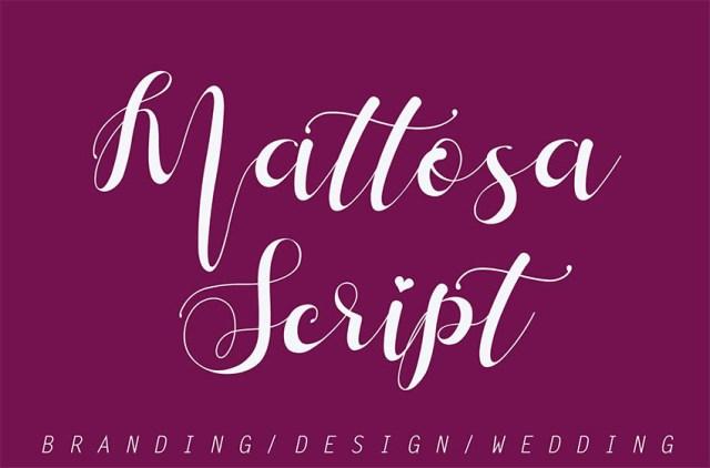 Phông chữ Mattosa Script với các dấu nháy