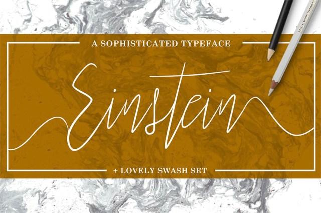 Phông chữ Einstein Swash Flourish