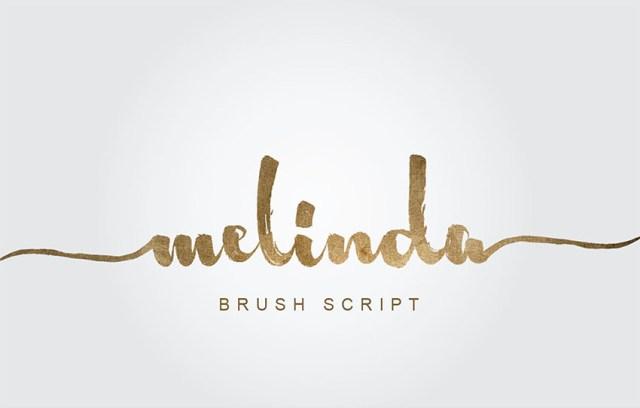 Phông chữ Melinda Brush Script có đuôi