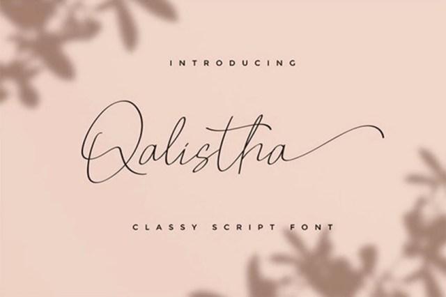 Phông chữ Qalistha Swash Flourish