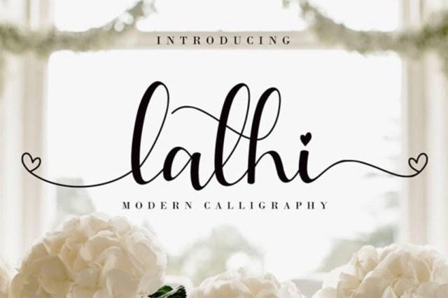 Phông chữ chữ thảo Lathi có đuôi dài