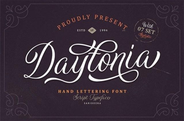 Daytonia - Phông chữ Chữ viết tay có đuôi