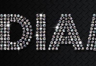 How To Create A Quick Sparkling Diamonds Text Effect In