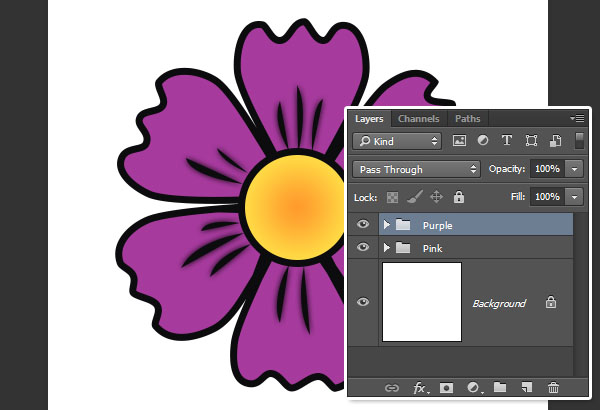 Change the Copy Petals Fill Color