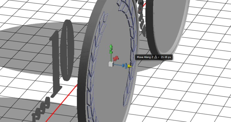 Reposition the 3D Meshes