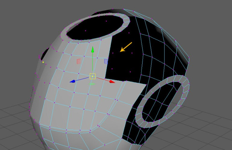 Jump in the vertex selection mode