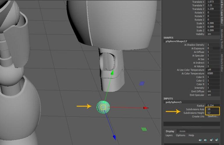 Create a sphere polygon primitive