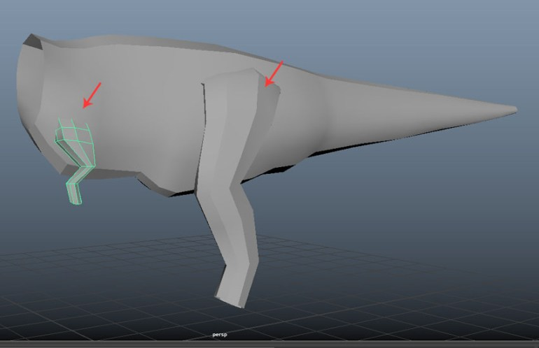 The basic structure of hand and leg is ready