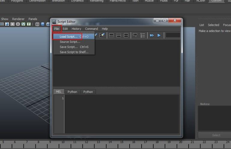 File  Load Script