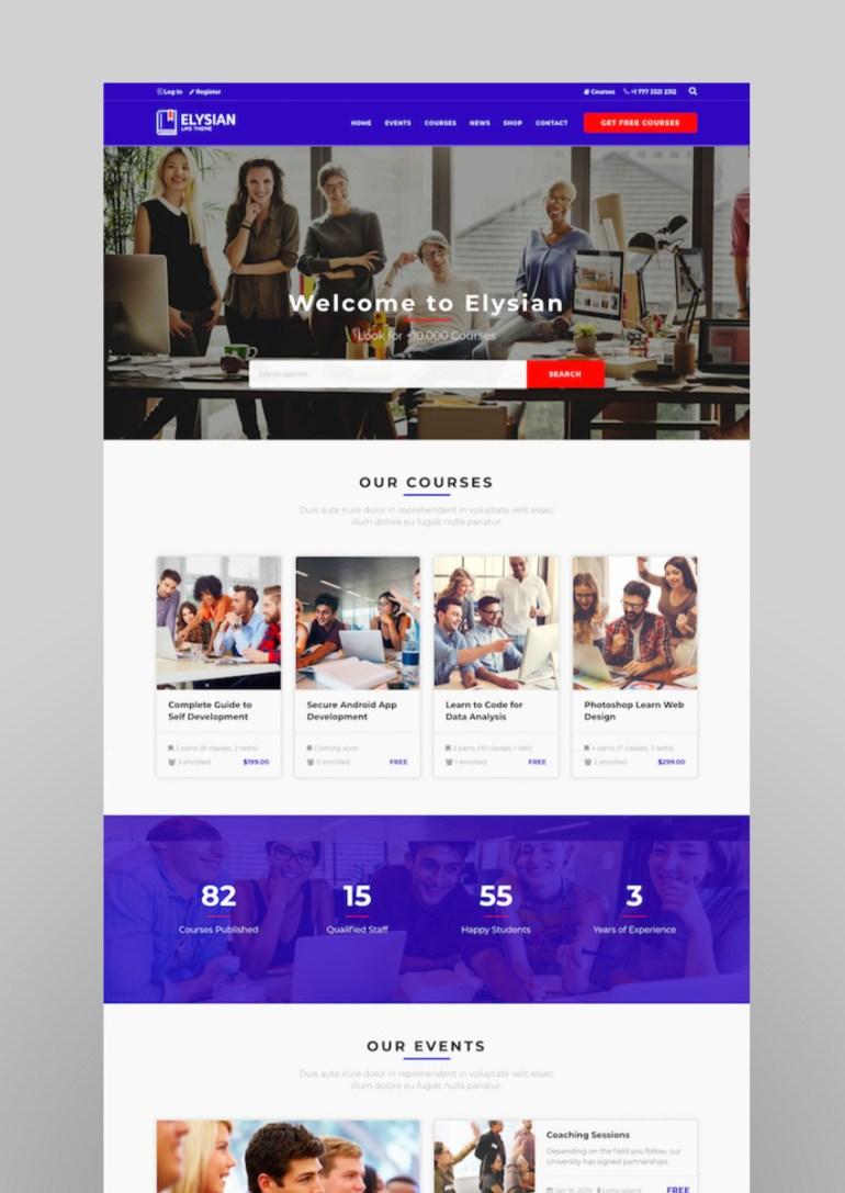 Elysian - WordPress School Theme