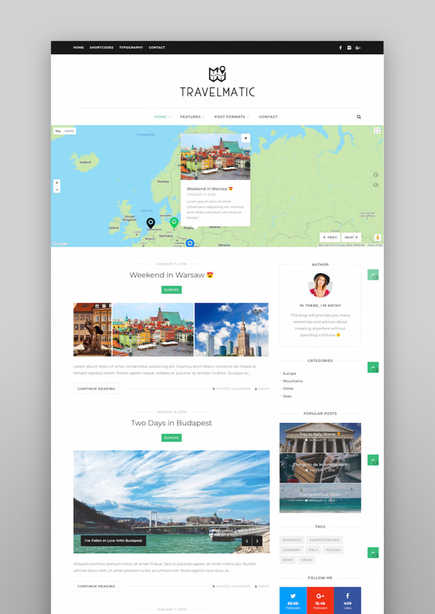 Travelmatic - Travel Blog WordPress Theme