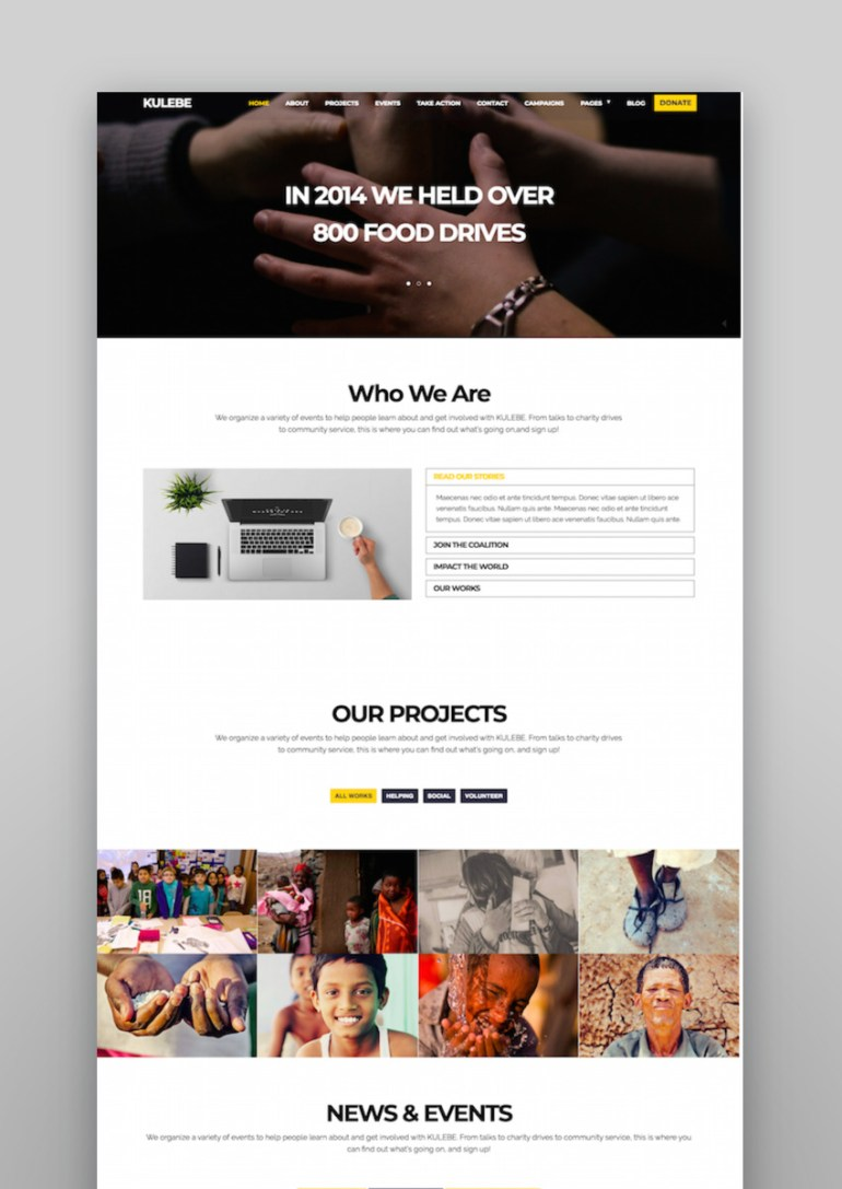 Kulebe - Multipurpose Crowdfunding Nonprofit Theme