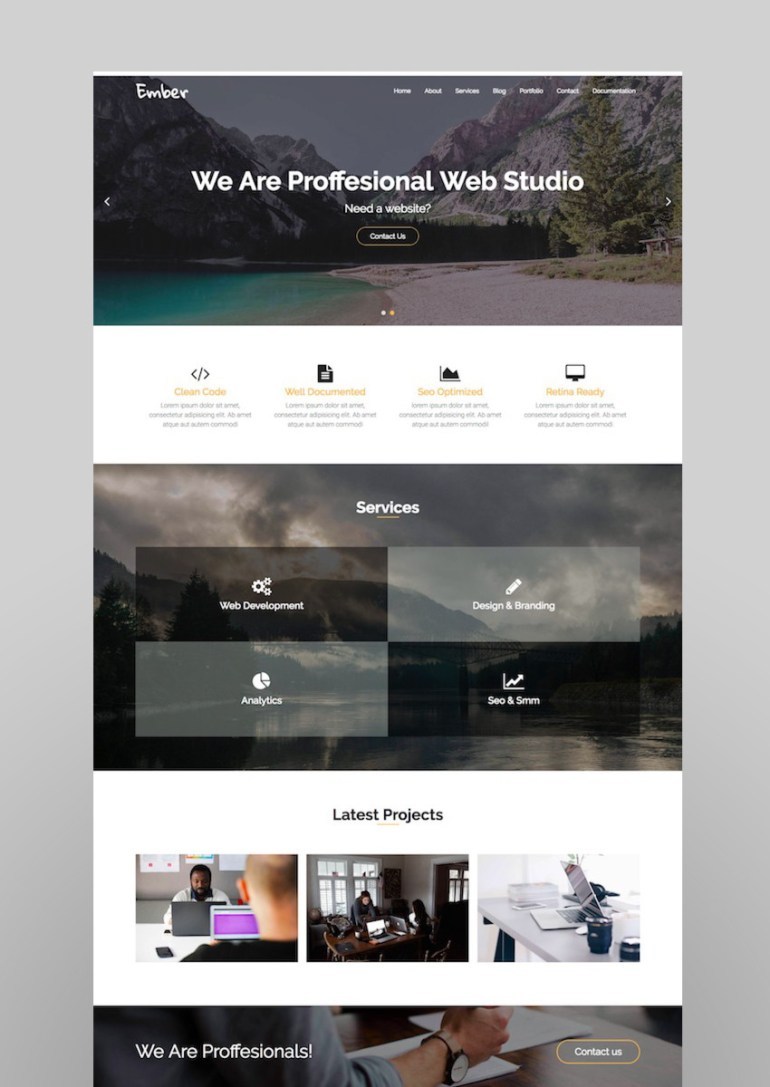Ember - Digital Marketing Agency WordPress Theme