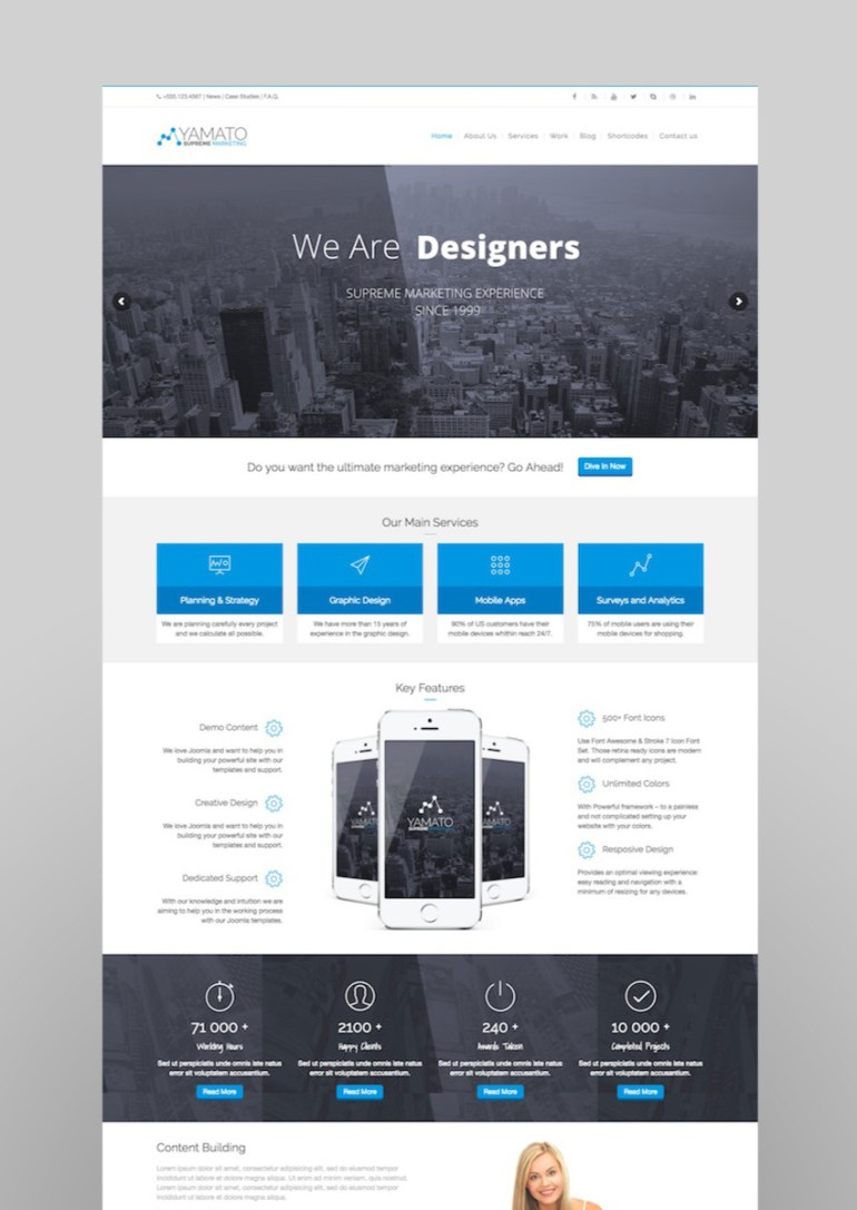 YAMATO - Corporate MarketingWordpress Theme