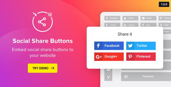 Social Media Share Buttons for WordPress