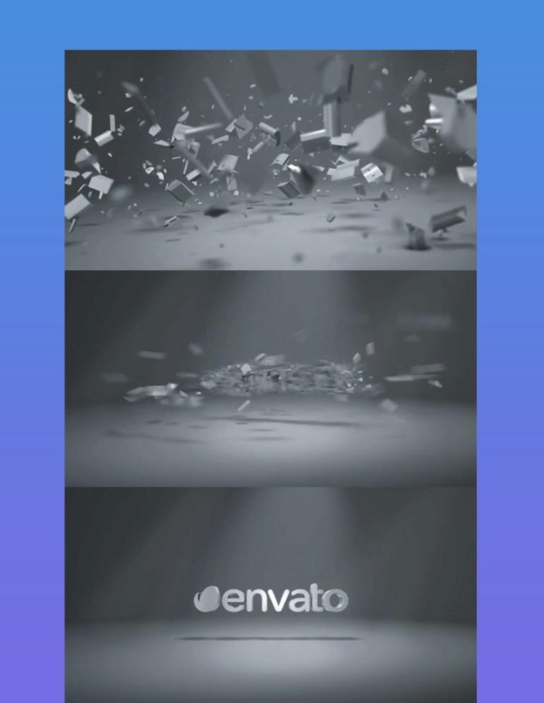Elegent 3D Shatter Logo
