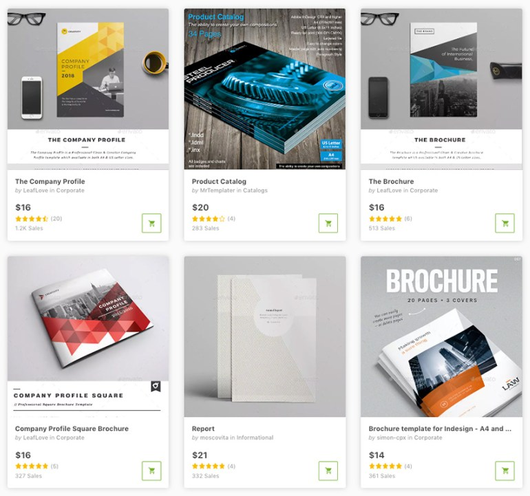 Best InDesign brochure templates for 2018 available for sale on Envato Market
