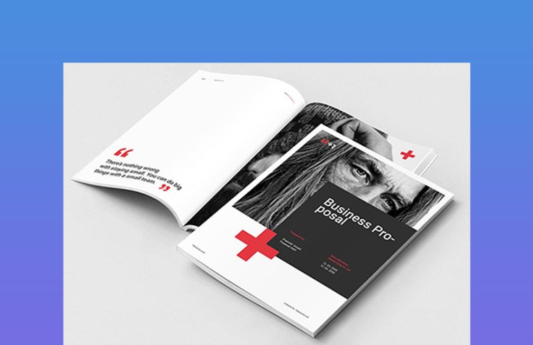 Business Proposal With Creative Graphic Layout Designs