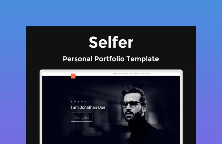 Selfer Portfolio  Personal Website Template