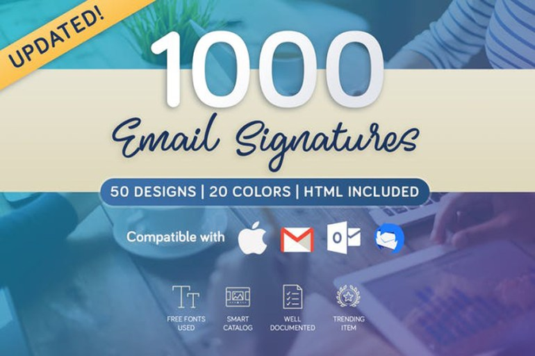 1000 HTML Email Signature Template