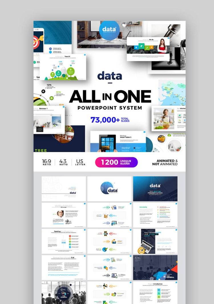 Sistema di temi infografici PPT di dati