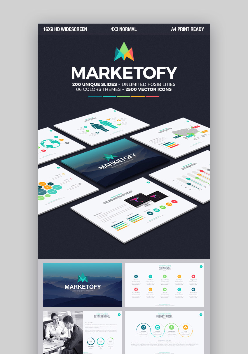 Marketofy - Ultimate Apple Keynote Template For 2018