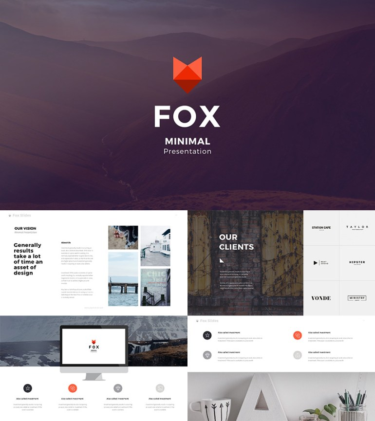 Fox Best Creative Google Slides Template 2016