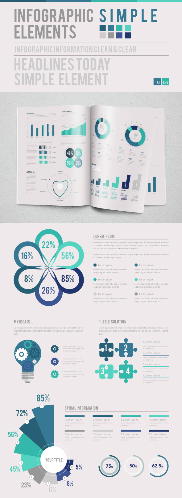 Infographic Simple Template Design Kit