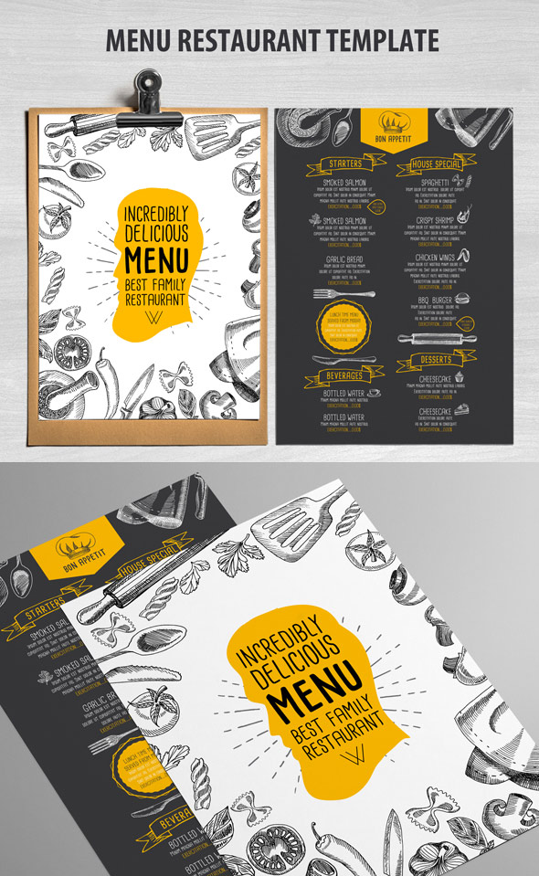 Caf Menu and Restaurant Template
